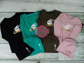 tričko BOOM  Gang smaragd