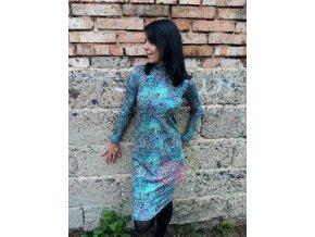 Modré mandaly - šaty