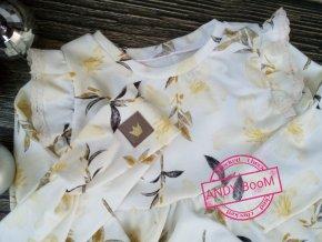 křížená čelenka zlate květy