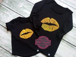 tričko BASIC black KISS
