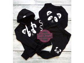 baggy black panda