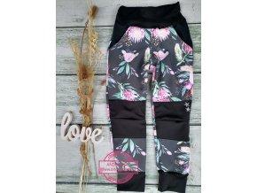 Soft kalhoty květ - rostoucí