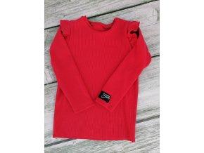 tričko BASIC žebro červené