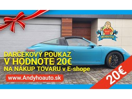 Darčekový poukaz v hodnote 20€