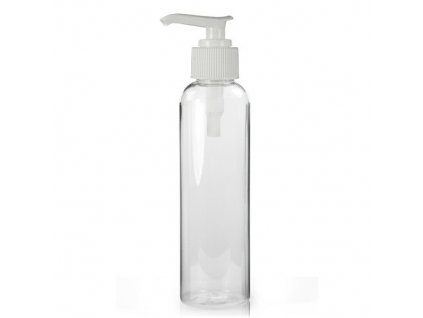 250ml clear tall lotion plastic bottle