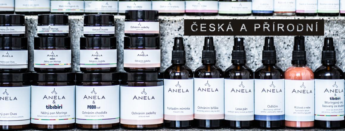 Průřez portfoliem kosmetiky Anelaportfoliem české přírodní kosmetiky Anela