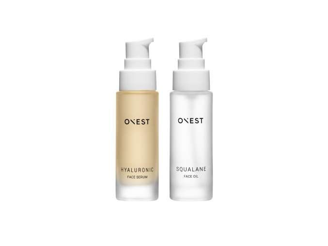 onest hya face serum squalane face oil set limited edition