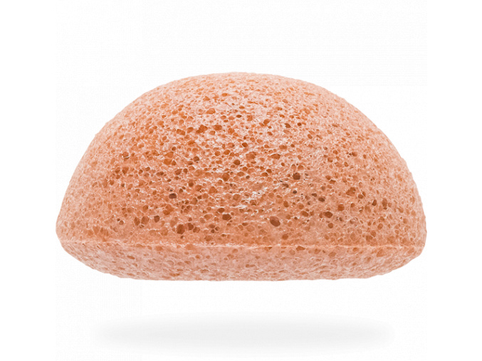 konjac sponge facial pink clay spongia na tvar ruzovy il detail