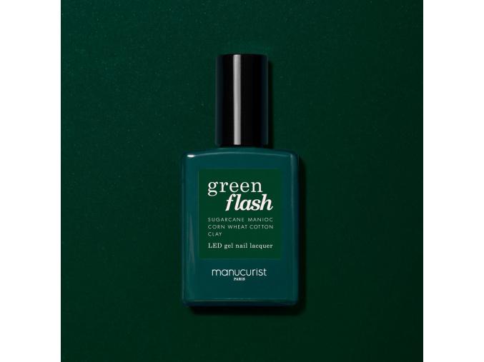 manucurist green flash gel nail polish gelovy lak na nechty emerald