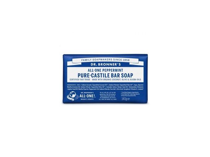 drbronners pure castile bar soap peppermint tuhe kastilske mydo mentol
