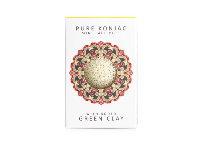 konjac sponge mini pore refiner french green clay spongia na pory francuzsky zeleny il darcekova