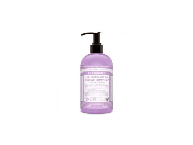 drbronners organic pump soap sugar lavender tekute mydlo shikakai levandula