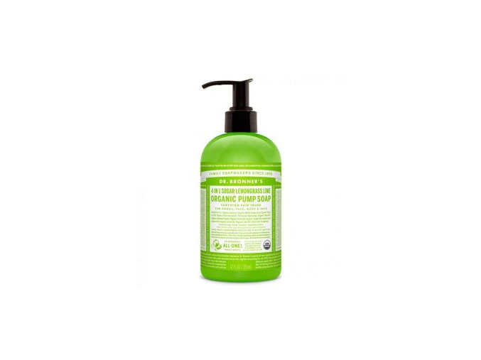 drbronners organic pump soap sugar lemongrass lime tekute mydlo shikakai citronova trava limetka