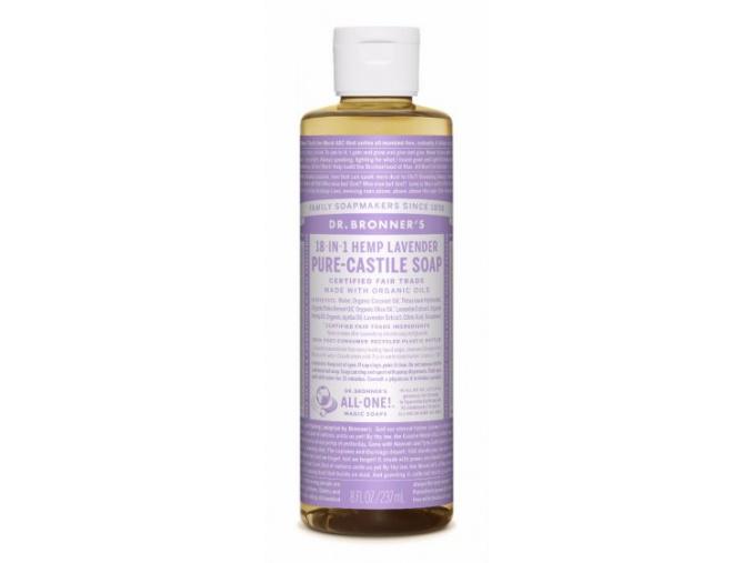 drbronners pure castile soap lavender tekute kastilske mydlo levandula