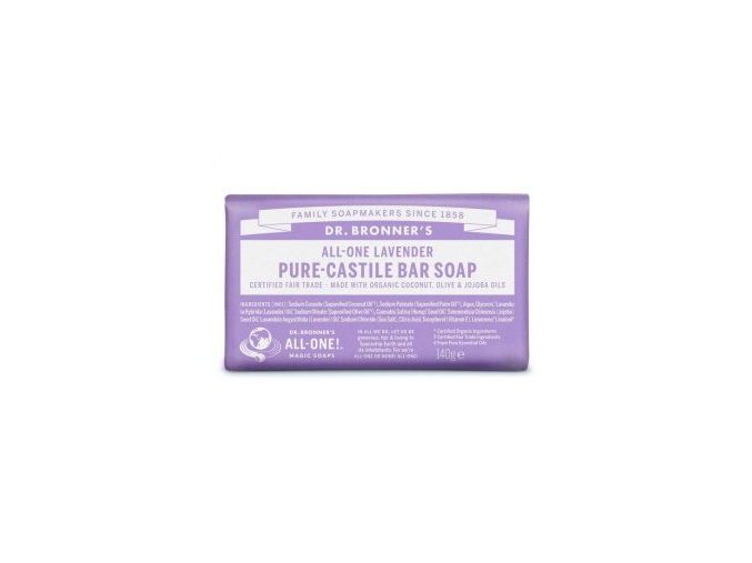 drbronners pure castile bar soap lavender tuhe kastilske mydlo levandula