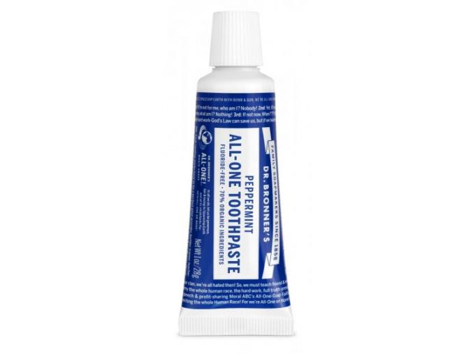 drbronners mini toothpaste pepermint mini cestovne balenie zubna pasta mentolovoa