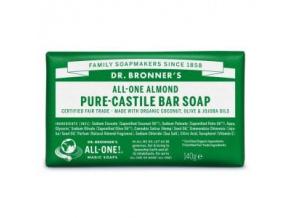 drbronners pure castile bar soap almond tuhe kastilske mydlo mandla