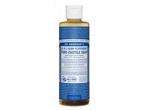 drbronners pure castile soap peppermint tekute kastilske mydlo mentol