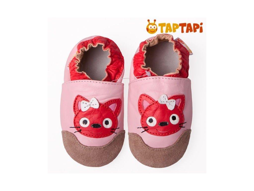 fc840e36a5 Taptapi kožené capáčky - kočička - Aner Shoes Barefoot