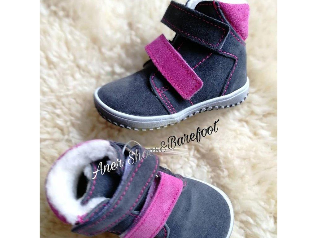 43236dad16c4 Jonap barefoot B4 - šedá růžová - Aner Shoes Barefoot