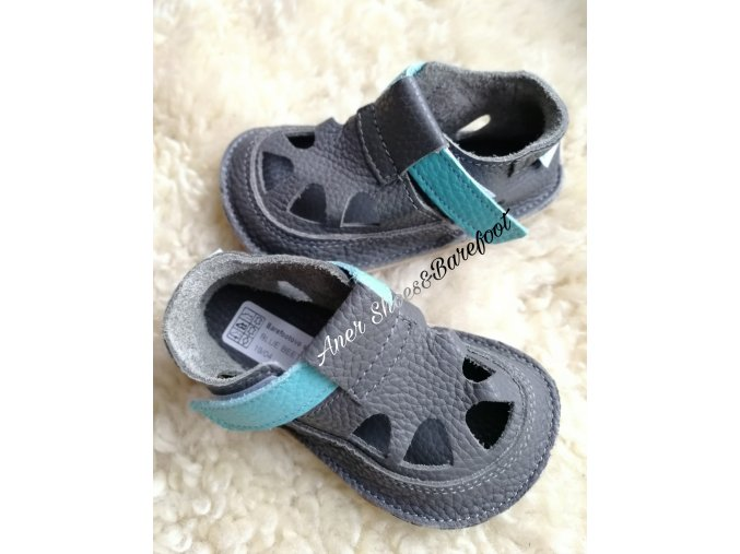 Baby Bare Shoes Summer Blue Beetle
