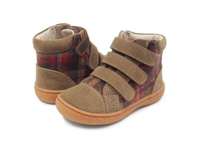 Livie & Luca Jamie Taupe Plaid