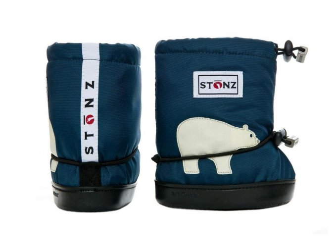 STONZ Booties Toddler - Polar Bear Navy Blue