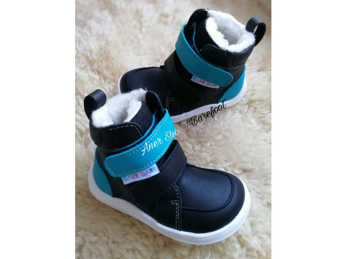 Baby Bare Shoes Winter black 1