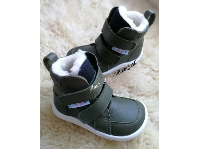 Baby Bare Shoes Winter khaki 1