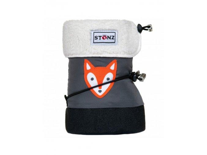 Stonz baby booties fox grey