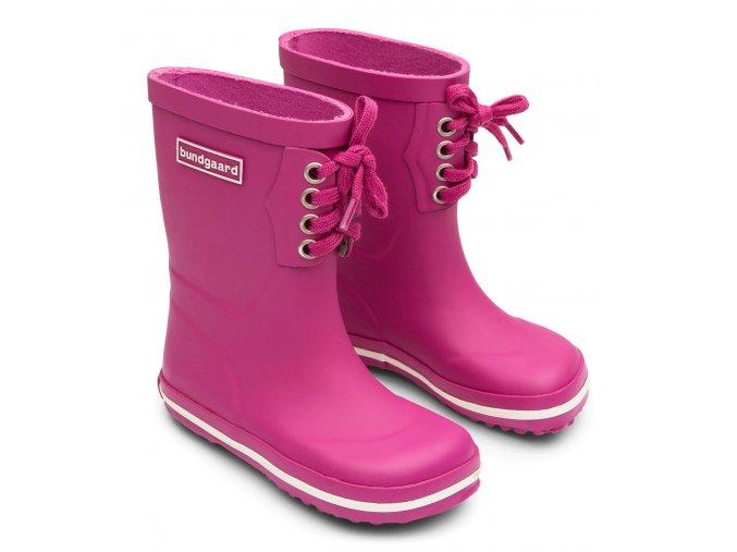 bundgaard holiny classic rubber boots lace raspberry 2jpg