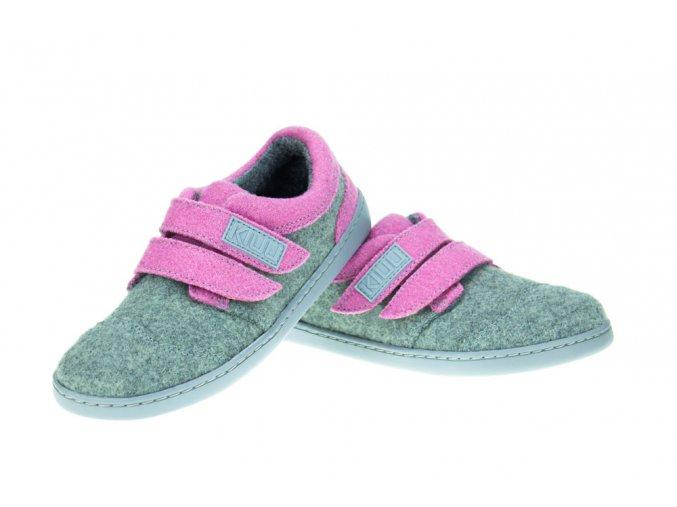 Kiuu Funtastic Merino Light grey pink d