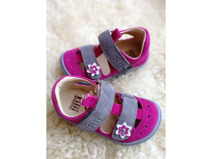 Filii barefoot sandalky Kaiman velcro pink