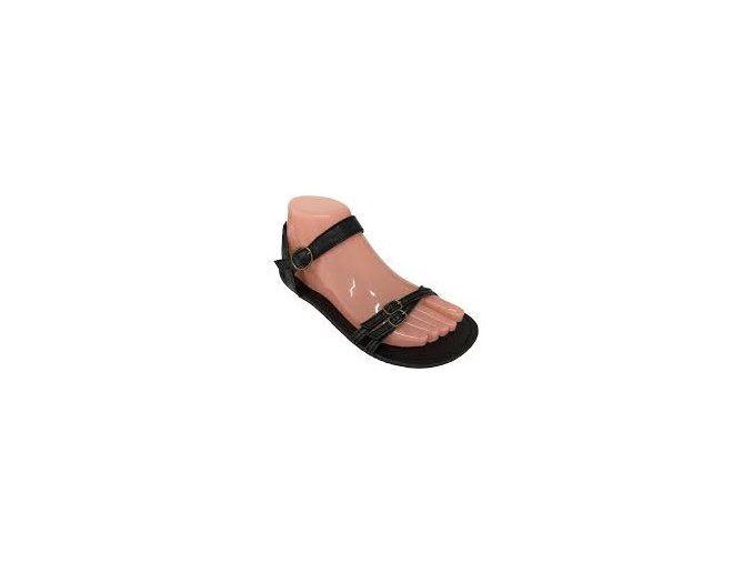 iris černé barefoot sandále