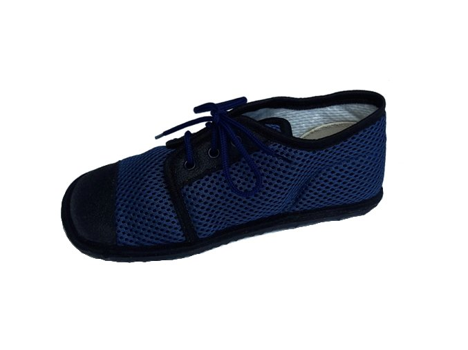 Beda barefoot tenisky - modrá tkaničky