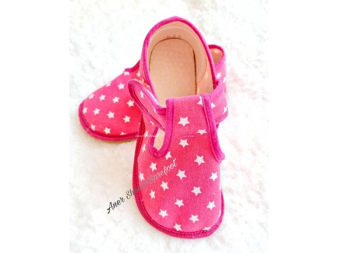 Beda papucky prezuvky barefoot hvezdy