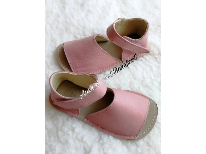 Zeazoo Barefoot sandálky Coral baby pink a