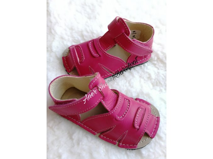 Zeazoo Barefoot Shell sandálky pink
