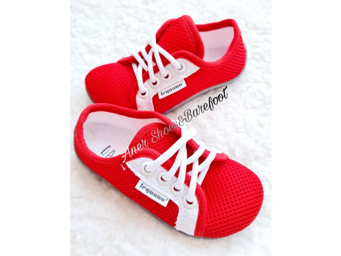 Leguanito Aktiv red cervena barefoot