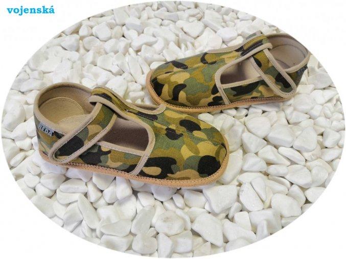 beda barefoot papuče vojenská užší