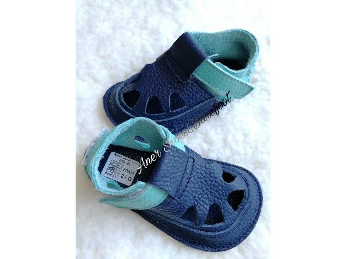 Baby Bare sandálky barefoot summer gravel
