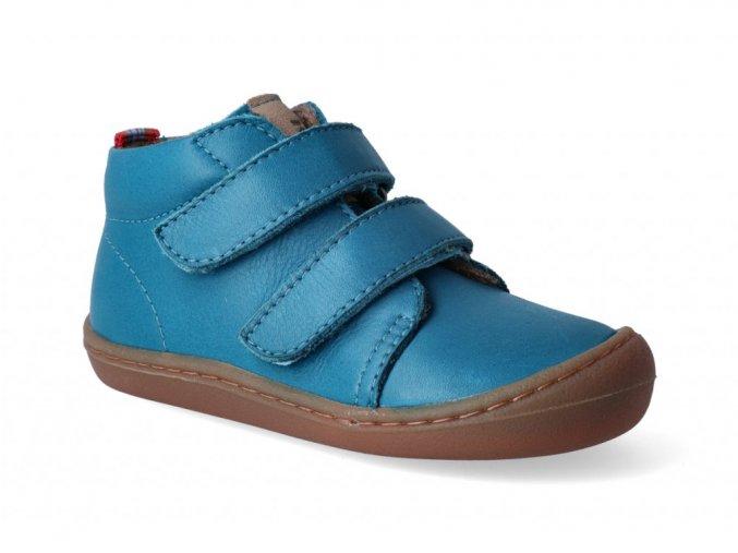 15932 barefoot kotnikova obuv koel4kids korkid fleece turquise