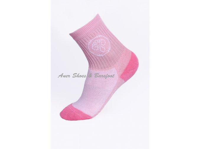 Surtex ponožky 80% Aerobic Merino dětské - sv.růžová