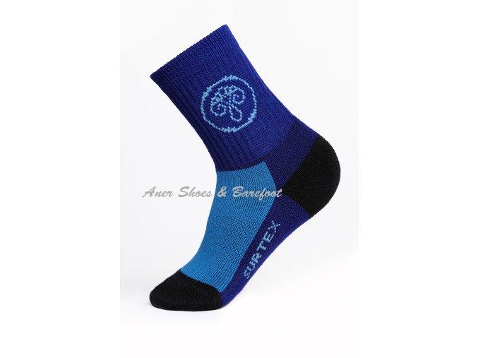 Surtex ponožky 80% Aerobic Merino dětské - modrofialové
