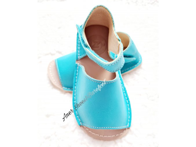 Zeazoo barefoot Coral Mint Green sandálky 2