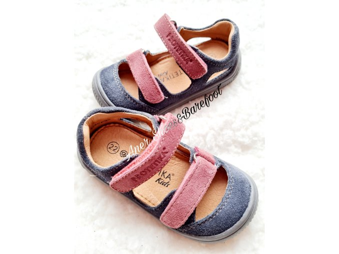 Protetika barefoot sandalky Berg Grigio