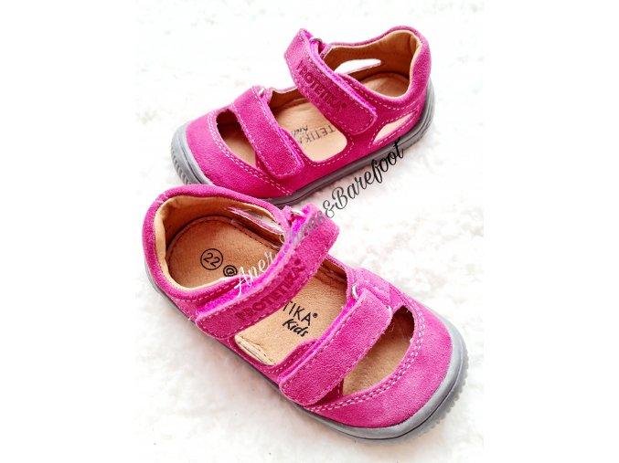 Protetika barefoot sandalky Berg Fuxia