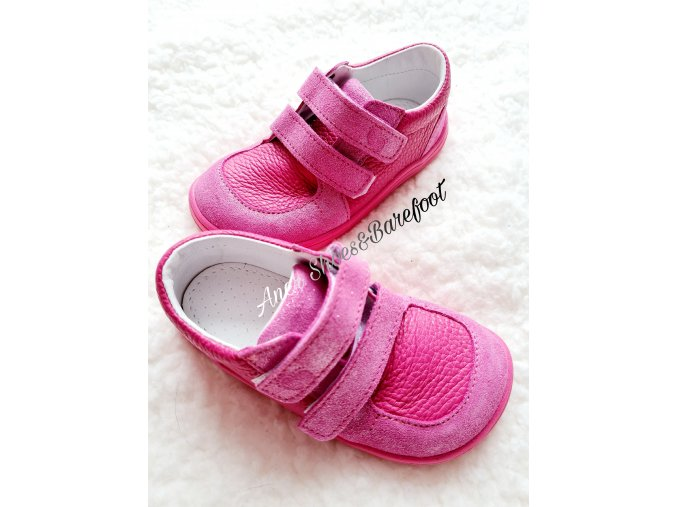 Baby Bare Shoes Youth Fuchsia barefoot
