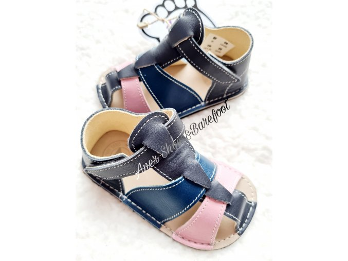 Zeazoo Goby barefoot sandalky navy grey light pink