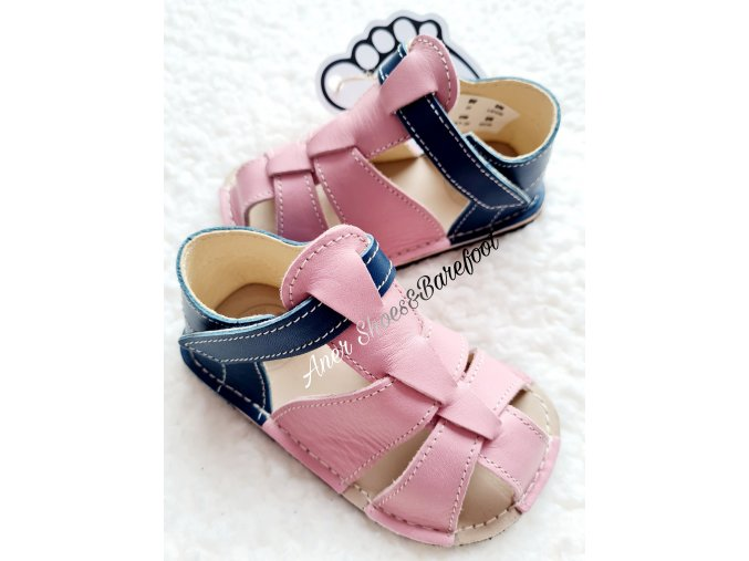 Zeazoo Goby barefoot pink navy